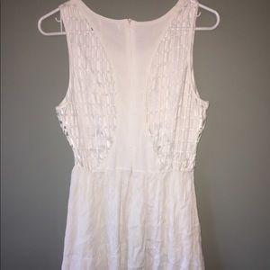 Sz L white open back dress